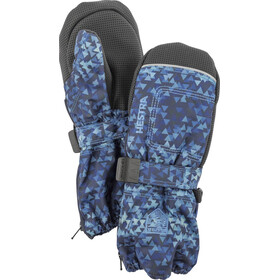 Hestra Baby Zip Long Mittens Kids Navy Print